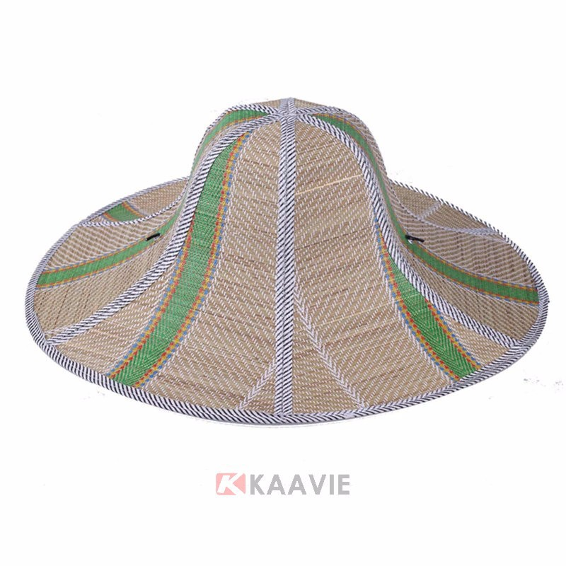 2017 new custom multi color outdoor sun hat folding straw hat