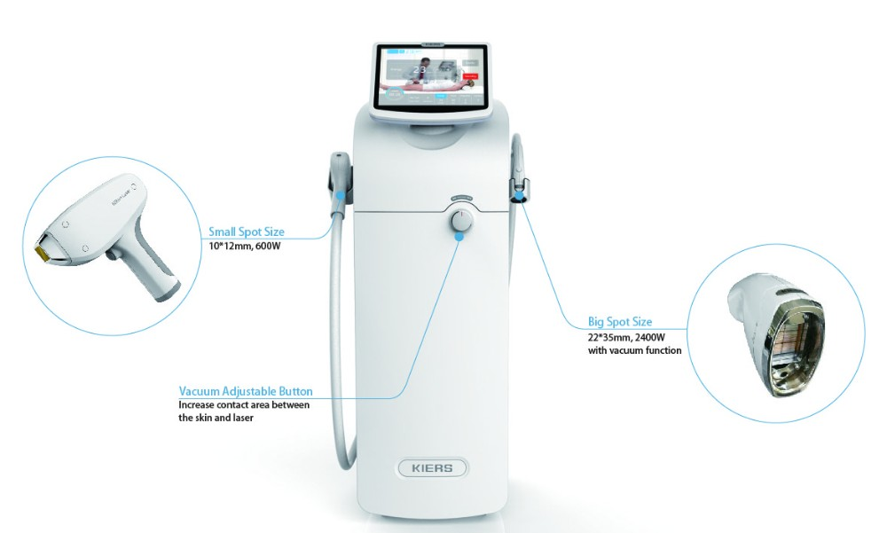 Big Spot Size 810nm Diode Laser Hair Removal Machine With