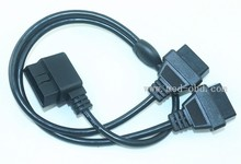 Cable, Right Angle J1962M to 2-J1962F, RA Y-Cable, 1ft