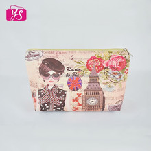 Popular man-made leather beauty & belfry digital printed newly designed cosmetic bag