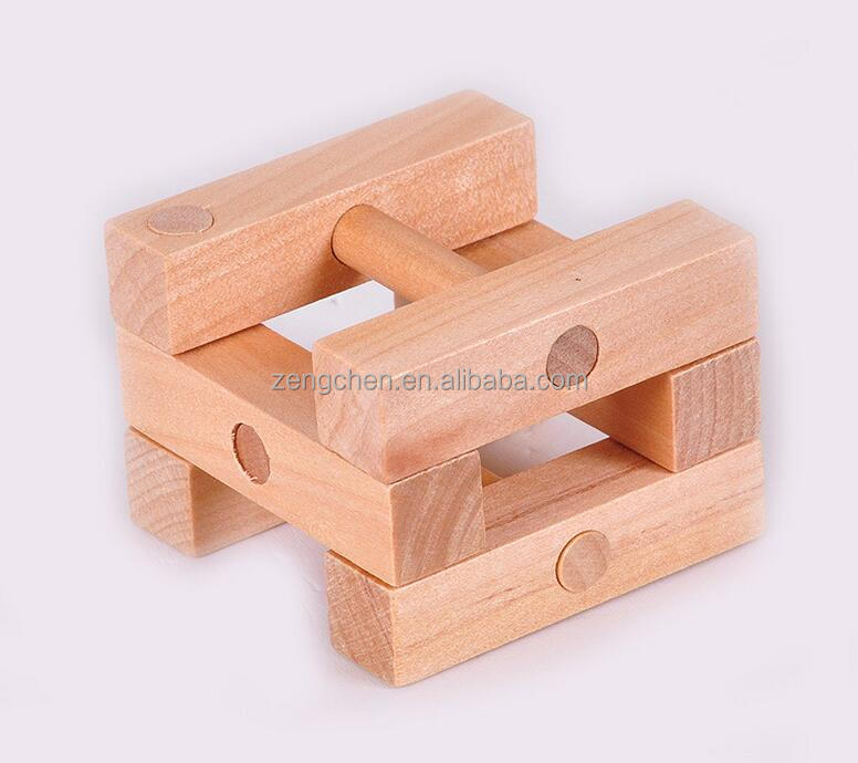 factory production ICTI certification interlocking wooden puzzle