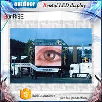 aluminum die casting zapatillas led outdoor advertising led display screen p4,mm rental panel screen wholesale