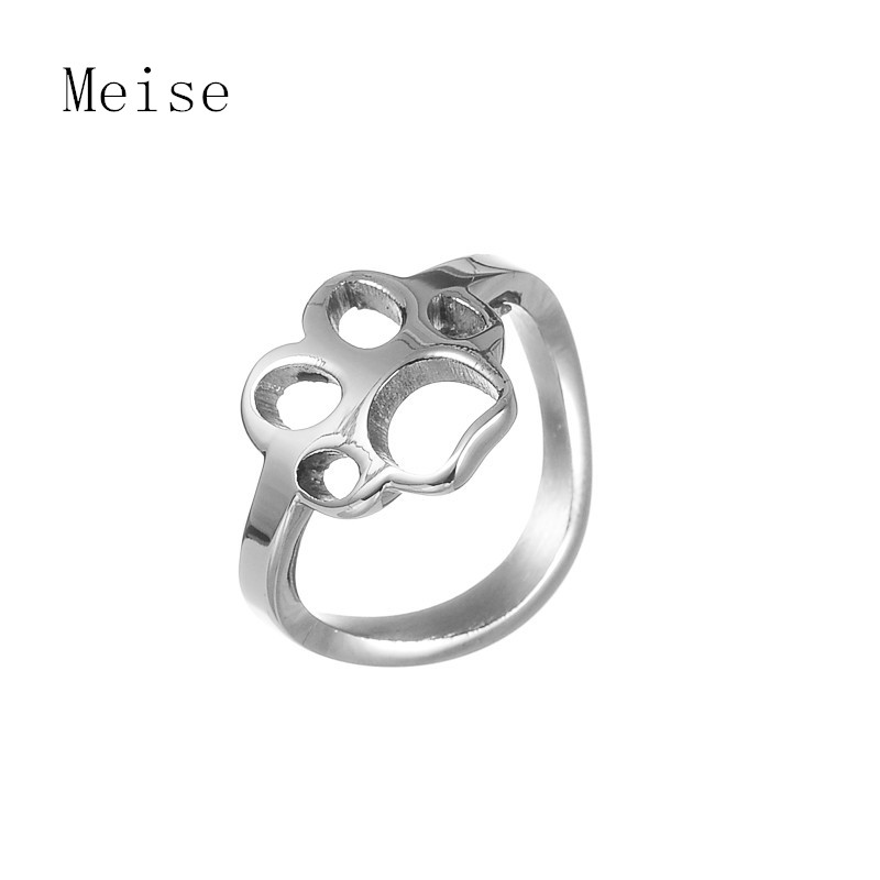 Yiwu Meise fashion finger claw ring stainless steel dog paw ring
