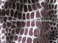 woven twill cotton/rayon bronzing velveteen for curtain,sofa and decorative fabric