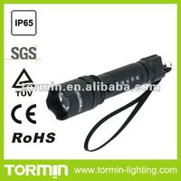 Rechargeable IP66 LED police flashlight