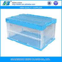 foldable stackable plastic moving crates of pp material with lid for storage alibaba china