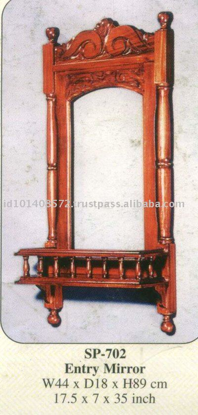 Entry Mirror Mahogany Indoor Furniture