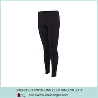 Black Color Elastane Compression Skin Nylon Sports Pants Women 2014