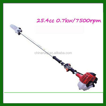 25.4cc two-stroke gas long handle pole chain saw