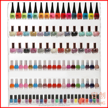 102 Bottles) 6 Shelf Pro Clear Acrylic Nail Polish Rack / Salon Wall Mounted Organizer Display