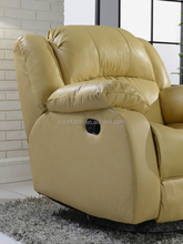 Best selling Modern leater Home Cinema recliner Sofa LS008 1+2+3 recliner massage sofa