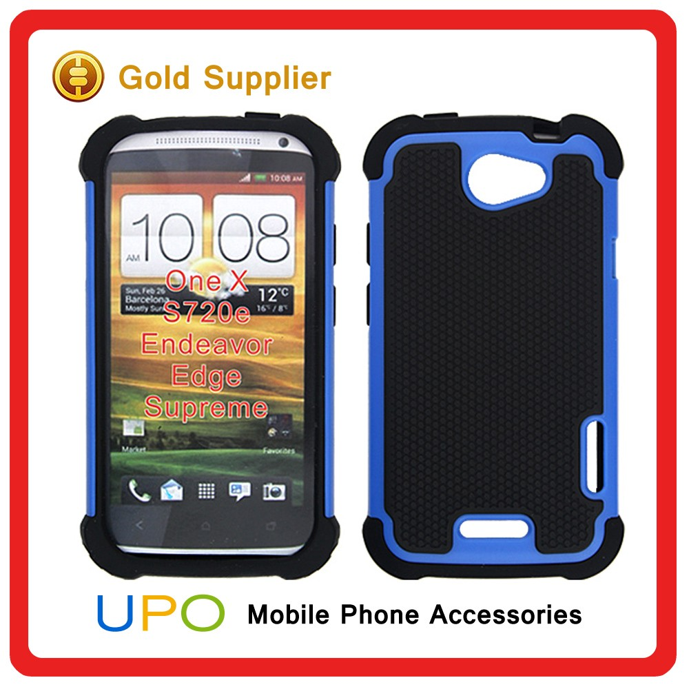 [UPO] New 3 in 1 Hybrid PC Plastic Hard TPU Silicone Rubber Soft football Case for HTC One X