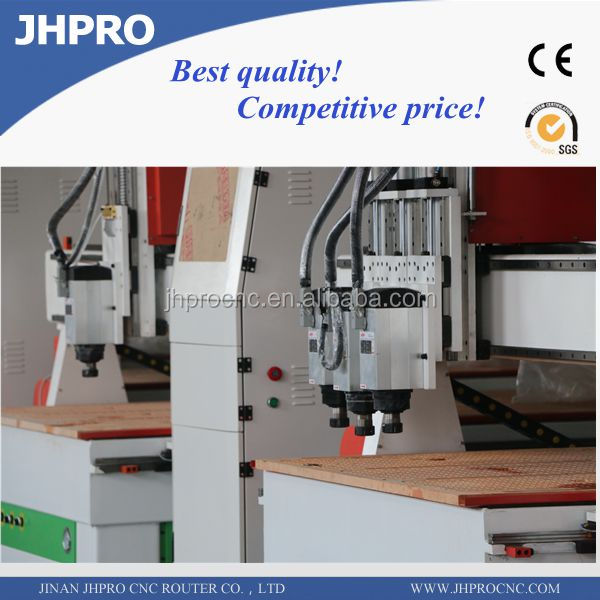 Hot sale JH-1325(1300*2500*200MM) vacuum table/DSP/Stepper motors wookworking engraver