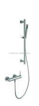 SSS-005 made in China 304 stainless steel brush nickle exposed installation bathroom shower