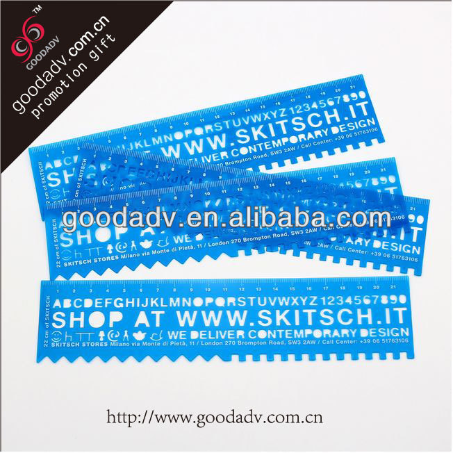 Guangzhou factory production plastic rule promotion gift 20cm plastic ruler