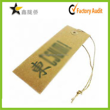 2015 custom tuk Fancy Hang Tag Printing with String Design Supplier in China