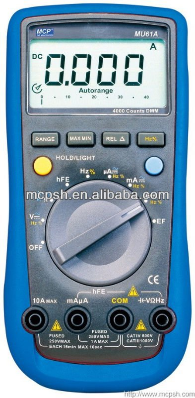 MU61A 3 3/4 digital multimeter/4000 counts digital multimeter/ multi meter/digital multimeter with frequency