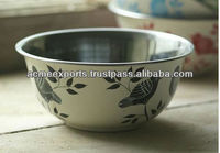Stainless Steel Table Decorative Hand Painted Bowls