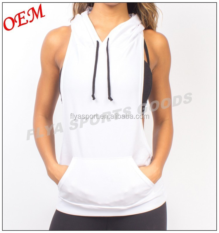 Bodybuilding Stringer Gym Racerback Muscle Tank Top Hoodie
