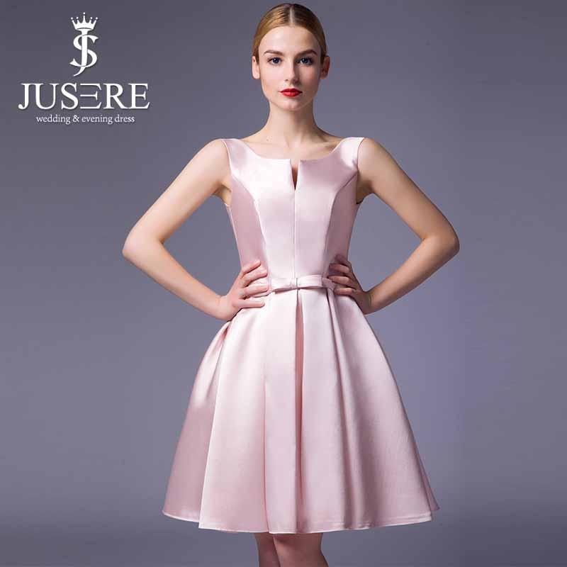 Designer robe de soirée couleur Peach Style Simple robe de soirée courtes  Puffy robe de soirée