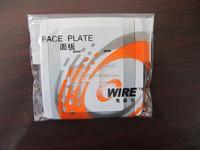 China Supplier Cat5e Single Port Angle Rj45 Wall Face Plate