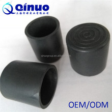 25 mm rubber parts anti-slip rubber furniture flat feet cover with spiral grain