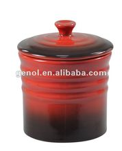 Large Ceramic Small Spice storage jar with lid