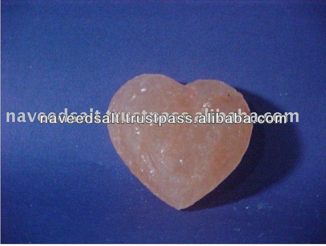 Pink Heart Warm Crystal Himalayan Massage Salt Stones