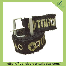 Cool Style Printed Fashion Belts for Men with eyelets