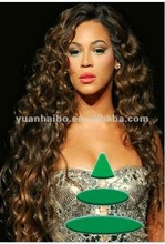 "High Quality 22"" Two Tone Color #1B#4 Deep Wave, Brazilian Remy Full Lace Front Wigs"