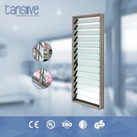 Tansive construction double glazed Aluminum frame decorative garage louver door hardware