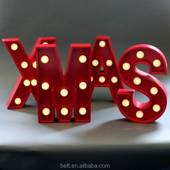 Red color wood letters light marquee letter light with battery power