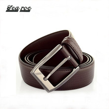 Personal customize mens brown leather belt with gold silver buckle long, wide leather belts