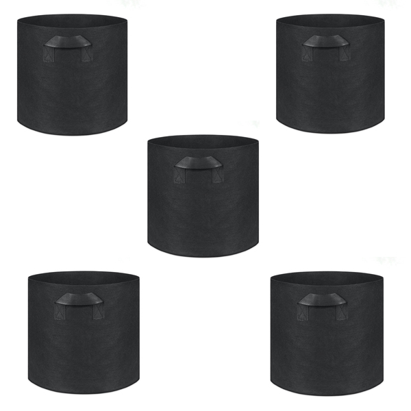 5-Pack 7 Gallons Planting Grow Bags