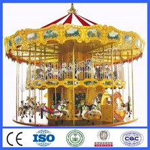 Entertainment equipment merry go round kids carousel toy 36 seats double deck carousel