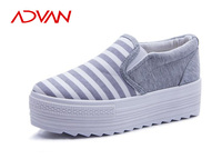 High Increasing No Lace Canvas Boat Shoes White Strap Sneakers Canvas Shoes Women's New All Sizes
