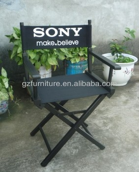 wooden folding director chair with logo