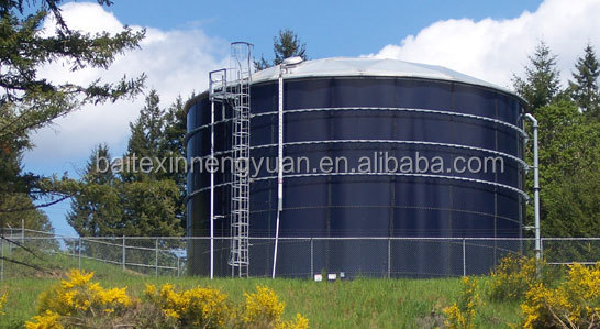 biogas digester with double membrane gas holder