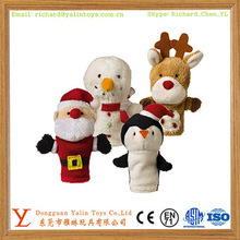 Christmas decoration SANTA finger puppet kid plush hand puppet