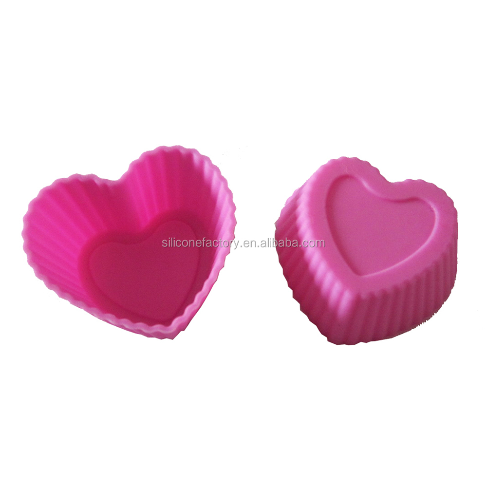 cute heart mini silicone baking cake cup