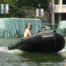 Popular camouflage pvc inflatable boat for sale