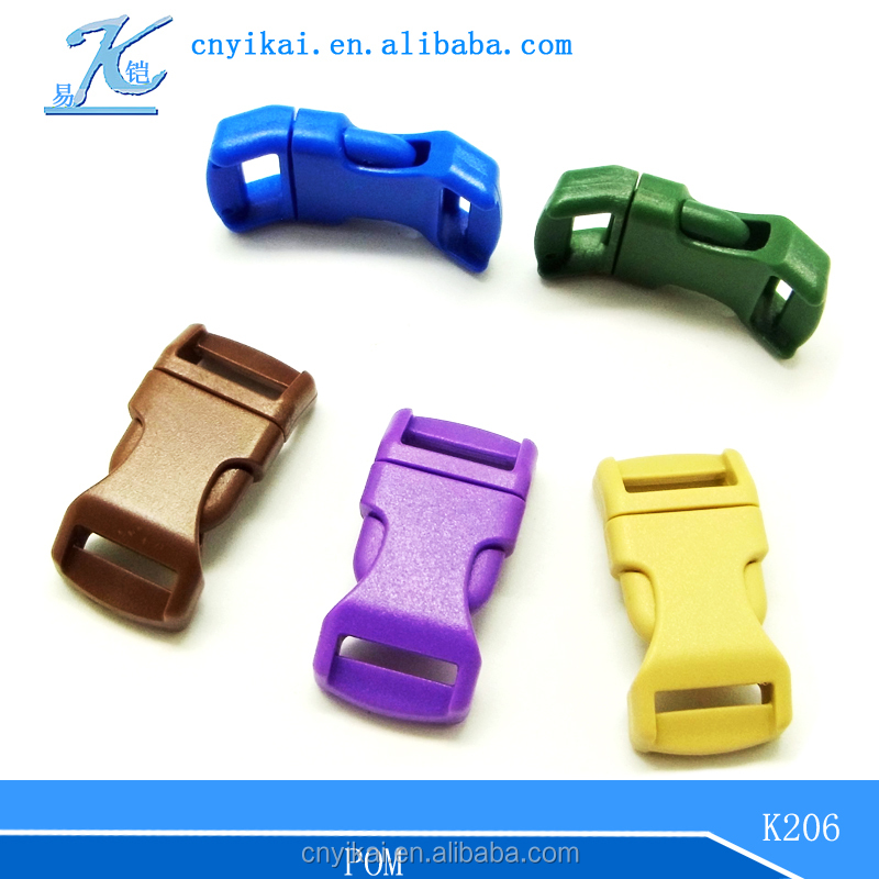 side release buckle curved plastic buckles for dog collars pet collar buckles