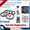 2015 new product WL toys 5.8G FPV 4ch 6 Axis RC professional Drone UFO With HD Camera Monitor RTF RC Quadcopter dron