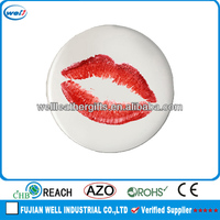 White Sexy Photo Frame With Red Lip Prints