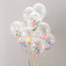 12inch 18inch 36inch party decoration latex clear balloon transparent confetti balloons