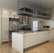 American style frameless kitchen,Foshan kitchen cabinets, high gloss acrylic kitchen cabinet door