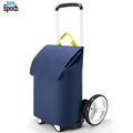 Large spacious simple durable shopping bag trolley with drawstring straps