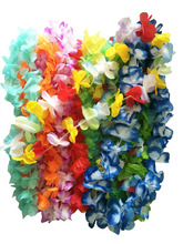 Luau Party Decorations Hawaiian Luau flower Lei Assortment