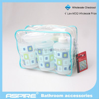 spring high quality and fancy Bathroom Accessories PP bathroom 6pcs set