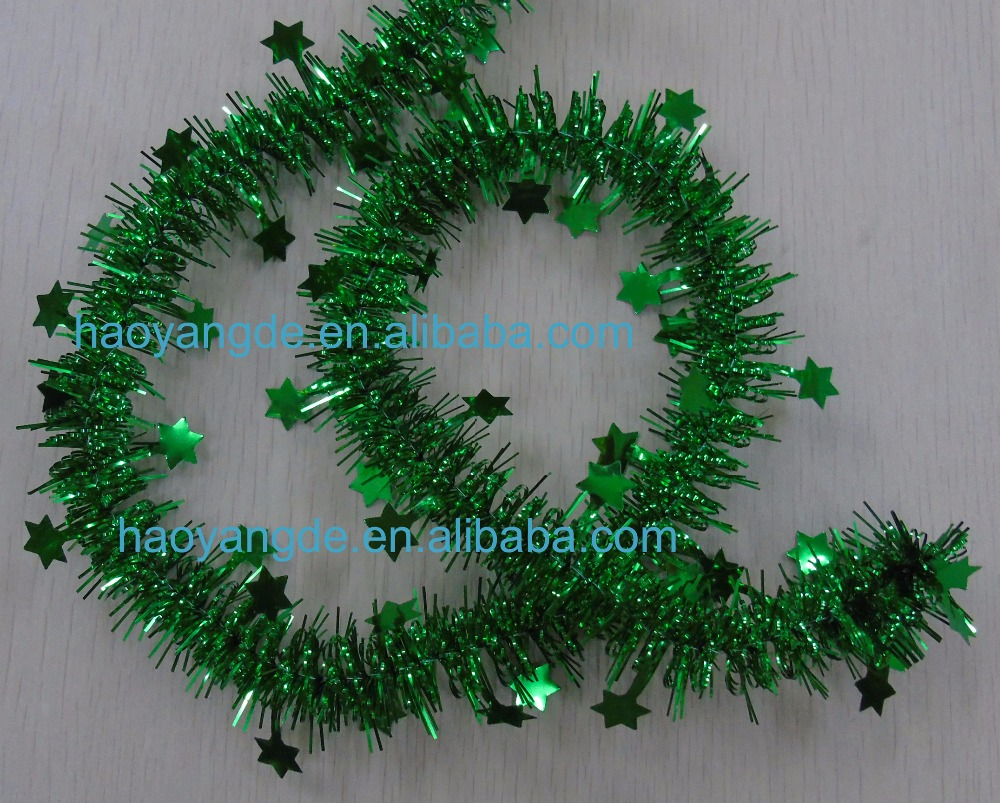 New Style~!! Christmas Decorative Tinsel Garland Multicolor for choice